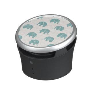 Het blauwgroen Leuke Patroon van de Olifant Bluetooth Speaker