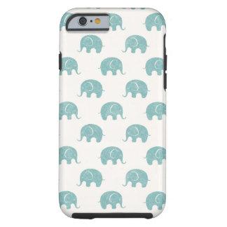 Het blauwgroen Leuke Patroon van de Olifant Tough iPhone 6 Hoesje