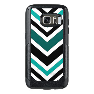 Het blauwgroen Patroon van de Chevron OtterBox Samsung Galaxy S7 Hoesje