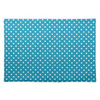 Het blauwgroen Patroon van de Stip Placemat