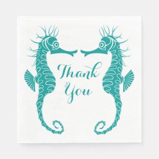 Het blauwgroen Turkoois dankt u het Huwelijk van Wegwerp Servetten