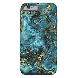 Het blauwgroen Turkooise Gouden Patroon van het Tough iPhone 6 Hoesje