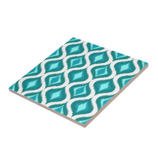 Het blauwgroen Turkooise Patroon van Dalingen Aqua Keramisch Tegeltje