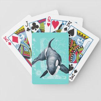 Het Blauwgroen Wit van de orka Pak Kaarten