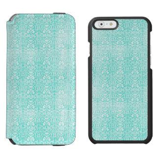 Het blauwgroene BloemenDamast Verouderde Patroon