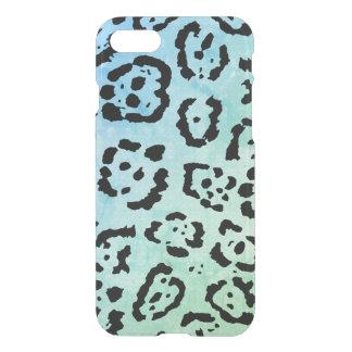 Het blauwgroene Effect van de Olieverf van de Kat iPhone 8/7 Hoesje