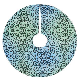Het blauwgroene Effect van de Olieverf van de Kat Kerstboom Rok