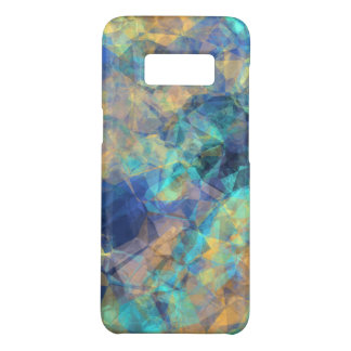 Het Blauwgroene Goud van het abstracte Geologische Case-Mate Samsung Galaxy S8 Hoesje