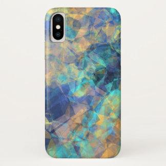 Het Blauwgroene Goud van het abstracte Geologische iPhone X Hoesje