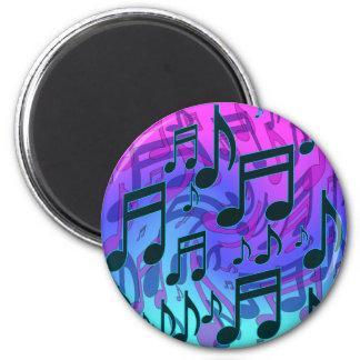 Het Blauwgroene Patroon Aqua Roze Swirly van Magneet
