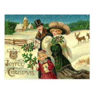 Het blije Briefkaart van Kerstmis van Kerstmis