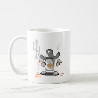 Het blik (cowboy) koffiemok