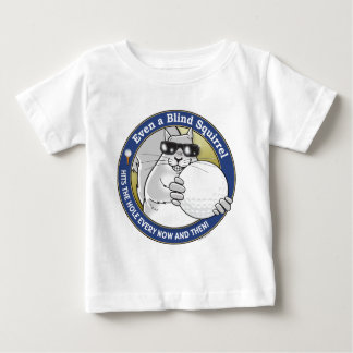 Het blinde Golf van de Eekhoorn Baby T Shirts