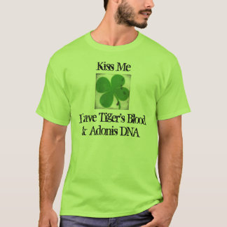 Het Bloed van de tijger en Adonis de Dag van DNA T Shirt