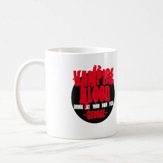 Het Bloed van de vampier. Drank op uw eigen risico Koffiemok