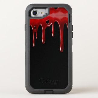 Het Bloed van Falln druipt Zwarte OtterBox Defender iPhone 8/7 Hoesje