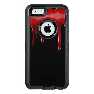 Het Bloed van Falln druipt Zwarte OtterBox Defender iPhone Hoesje