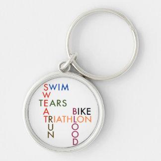 Het bloedzweet en scheuren van Triathlon Sleutelhanger