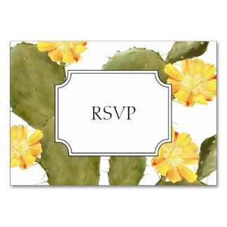 Het bloeien de uitnodiging van het cactushuwelijk kaart