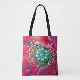Het bloeien Kunst ►Poppy in de Wind door Draagtas