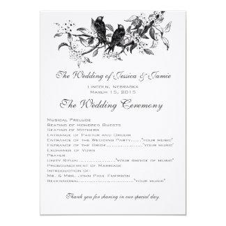 Het bloeien Programma van het Huwelijk van de 12,7x17,8 Uitnodiging Kaart