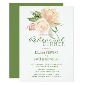 Het bloemen diner van de rustieke perzik gouden kaart