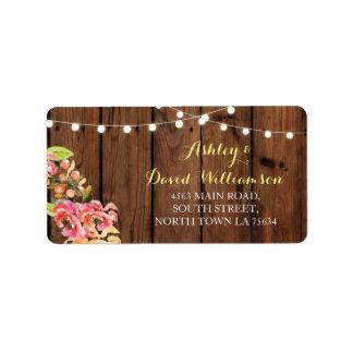 Het bloemen Etiket van het Adres van het Huwelijk Addressticker
