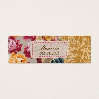 Het bloemen Gepersonaliseerde Lapwerk van de Stof Mini Visitekaartjes