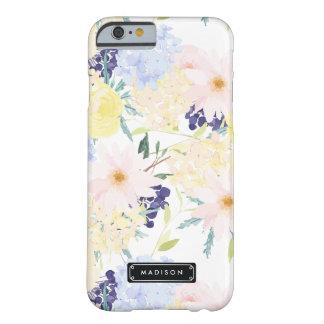Het Bloemen Gepersonaliseerde Patroon van de zomer Barely There iPhone 6 Hoesje