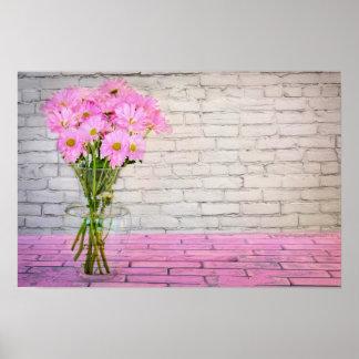 Het bloemen Huis van het Kantoor personaliseert Poster