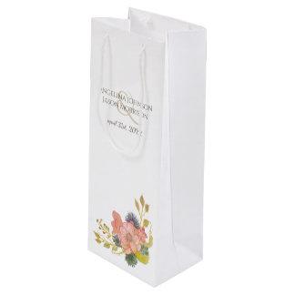 Het bloemen Huwelijk van de Lente van de Waterverf Wijn Cadeautas