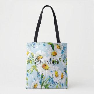 Het Bloemen KLANTGERICHTE Canvas tas van vintage