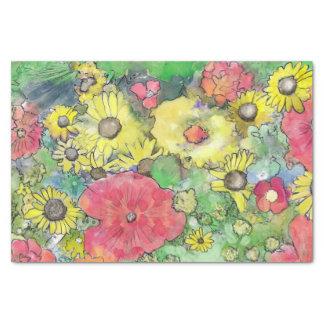 Het bloemen Kleurrijke Papieren zakdoekje van de Tissuepapier