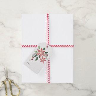 Het bloemen Label van de Gift van de Vakantie Cadeaulabel