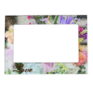 Het bloemen Lijst van de Foto van de Liefde Magnetisch Fotolijstje