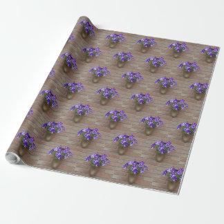 Het bloemen Nederlands belemmert Paarse Blauwe Inpakpapier