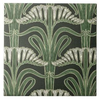 Het bloemen ontwerp van de Jugendstil Keramisch Tegeltje