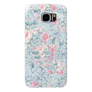 Het bloemen patroon van de Verf Samsung Galaxy S6 Hoesje