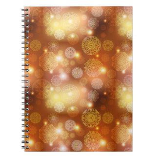 Het bloemen patroon van luxemandala notitieboek