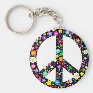 Het bloemen Symbool van de Vrede Sleutelhanger