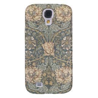 Het Bloemen TextielPatroon van Victoriaans William Galaxy S4 Hoesje