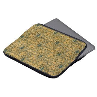 Het Bloemen TextielPatroon van Victoriaans William Laptop Sleeve