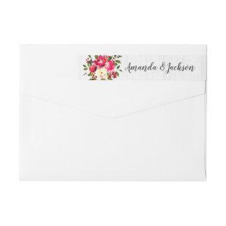 Het Bloemen Witte Houten Huwelijk van de rustieke