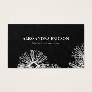 Het bloemen Zwart-witte Visitekaartje van de Visitekaartjes
