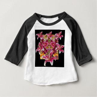 het bloemenart. van ster gazer lelies baby t shirts