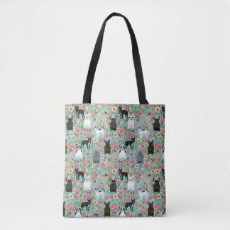 Het BloemenCanvas tas van Frenchie
