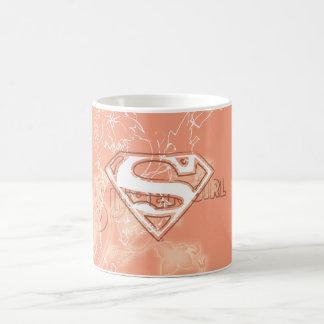 Het BloemenPatroon van de Perzik van Supergirl Koffiemok