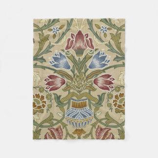 Het BloemenPatroon van het Brokaat van William Fleece Deken