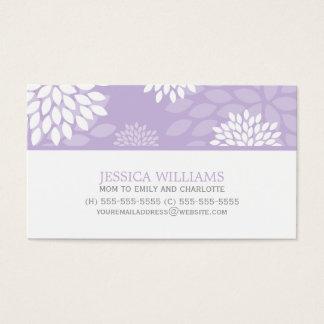Het BloemenPatroon van paarse Chrysanten Visitekaartjes