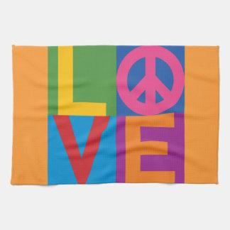 Het Blok LOVE=Peace van de kleur Handdoeken